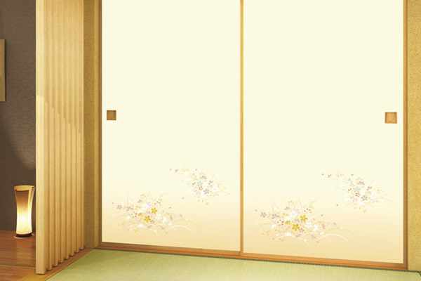 fusuma room reform bright color sample107