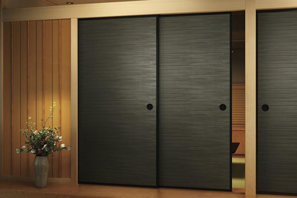 暗い色の襖F001ブラック